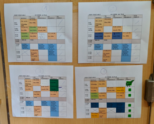 Auxiliar de conversación timetable