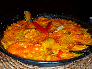 Eating a Paella in Madrid