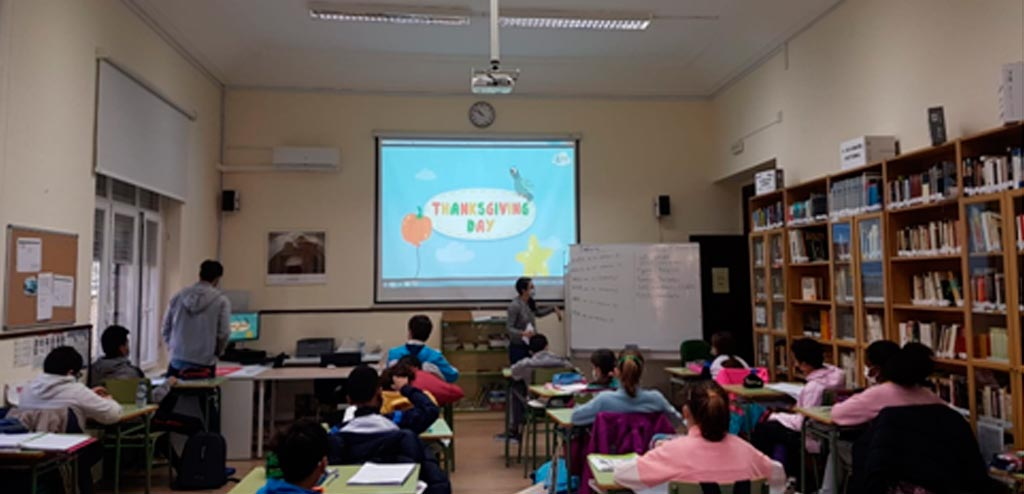 Class at my school in Spain