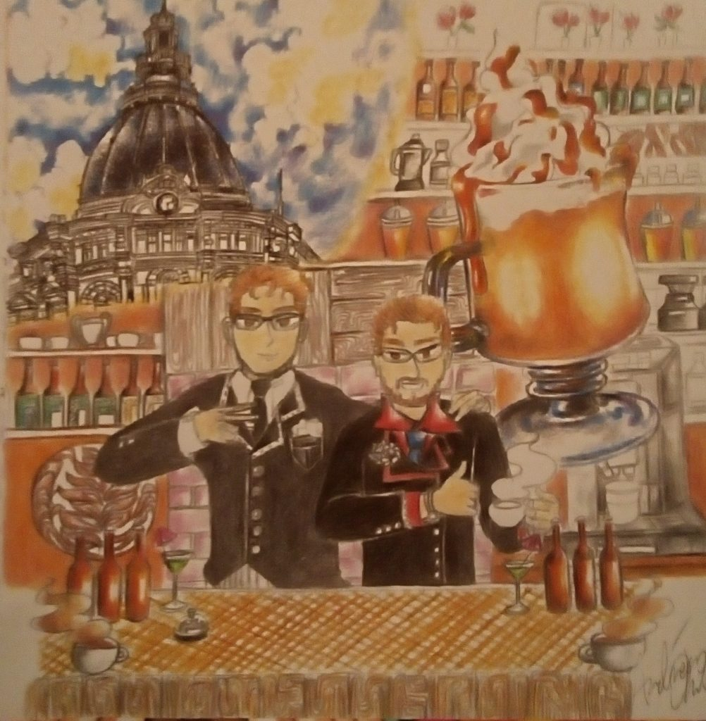 Cafe Brothers Illustration